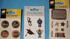 NEW SCHOOL, GRADUATION or SPORTS LIL' CHARMS LIL' STACKERS * Your Choice * ATD