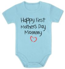 Mothers Day Gift Idea Happy First Mothers Day Mommy Gift Baby Onesie With Heart