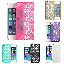 Rubberized Damask Carve Pattern Matte Hard Case Cover For Various iPhone Samsung