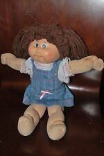 Vintage CABBAGE PATCH KIDS Girl in Denim Outfit- Xavier Roberts - 1984