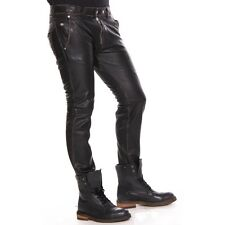 Diesel Leather Pants Polaskia Trousers Men New