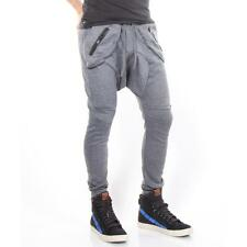 Top Here Pants Drop Crotch Grey Men New