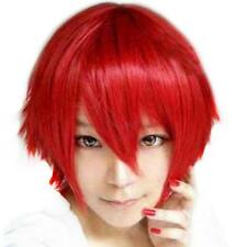 Mens Boys Cosplay Hairpiece 10 Colors Short Hair Wig Masquerade Full Wigs B26