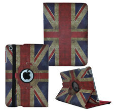 360° Rotating Vintage Retro PU Leather Folio Case Cover For Apple iPad 5 Air UK
