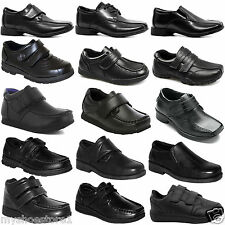KIDS BOYS BACK TO SCHOOL SHOES BLACK SLIP ON / VELCRO CAUSUAL SCHOOL SHOES