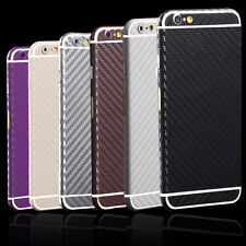 Carbon Fiber Sticker Full Body Film Screen Protector Skin For iPhone & Samsung