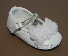 New Baby Girls White Dress Shoes Christening Baptism Easter Dedication Christmas