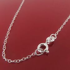 "Solid 925 Sterling Silver Trace Chain Necklace 16"" 18"" 20"" 22"" 24"""