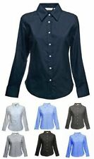 Premier Women's long sleeve Oxford  Plain Work Shirt Sizes 6-26
