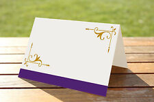 Mariage fête place nom cartes Pack de 50-Cadbury purple & gold