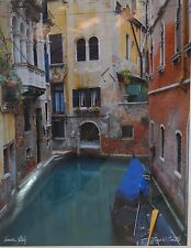Louis Cantillo Venice Italy  Matted Print New Ready for Frame 20 X 16""