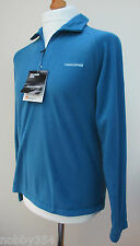 New Mens Craghoppers Basecamp Fleece Half Zip Top Bright Ocean Blue S M L BNWT