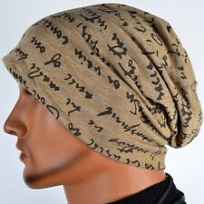 Men Slouchy Thin Beanie Unisex Baggy Hip-hop Cap Skull Hat Summer Light B078-B