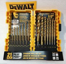 Dewalt DW1361 Titanium Pilot Point 21 piece drill bit set - Brand new