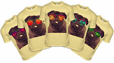 Holiday Pug T-shirt Summer Time Tshirt Funny Sunglasses Pugs Top Cute Puppy Tee