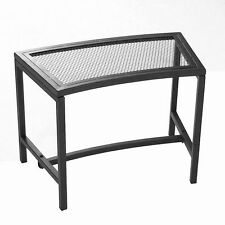 Sunnydaze Décor Black Mesh Patio Fire Pit Bench Outdoor Camping Furniture NEW