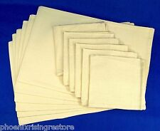Choice 4 6 8 12 100% Fine Linen Place Mats Dinner Napkin Set Neutral Ivory Beige