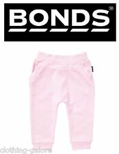 AUTHENTIC BONDS BABY GIRL GIRLS PINK TERRY TRACKIE COTTON TRACKIES PANTS SIZE 00