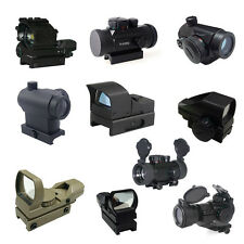 Airsoft Red Green Blue Dot Sight Optic Scope Weaver Mount