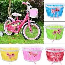 Front Basket Bicycle Cycle Shopping Stabilizers Children Kids Girl Flowery Decor