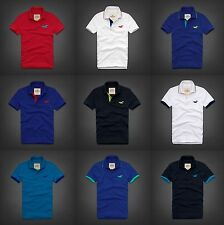 NWT HOLLISTER by ABERCROMBIE & FITCH MEN'S POLO SHIRT T-SHIRT ALL SIZE