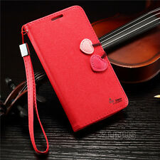 Genuine Real Leather Photo Flip Wallet Case Cover For Samsung Galaxy Model