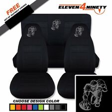 1997-2002 Jeep Wrangler TJ Black Seat Covers /Football Player Design 9 Colors