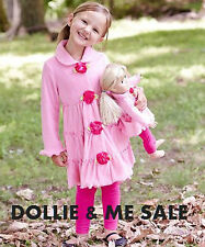 DOLLIE & ME SALE Girls Outfit & Matching Doll Outfit Pink Coat NEW Sz  8,10,12