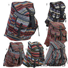 Fabric Backpack Indian Nepal Retro woven Hippie Vintage Folklore Boho BT17