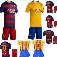 2015-2016 final  BARCELONA shirt+short 3-14 years MESSI NEYMAR or own name