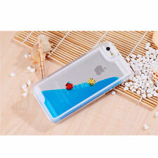 Ultra Clear Freely Swimming Fishes Movable Liquid Hard Case for iPhone 5 5S