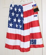 Mens American Flag USA Shorts 4th of July Lacrosse Globetrotters Basketball NEW