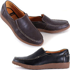 New Polytec Comfort Slip on Fashion Men Casual Athletic Loafers Dress Shoes