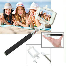Wired Selfie Stick Phone Holder Remote Shutter Extendable Monopod iPhone Android