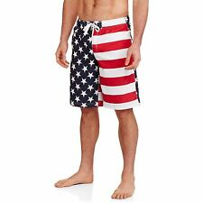 Mens American Flag Swim Trunks USA Board Shorts Swimsuit 4th of July S M L XL