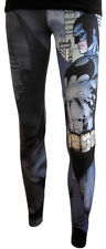 Bioworld, Womens Batman Sublimated Leggings,Blue/Grey (XS-2XL)