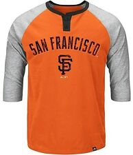 San Francisco Giants Majestic Force Play Men's Raglan Shirt Big & Tall Sizes