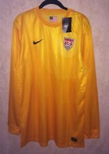 NEW Mens XL NIKE US National Team G Yellow Authentic GK Goalkeeper Soccer Jersey