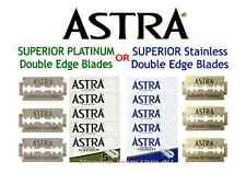ASTRA - SUPERIOR PLATINUM and SUPERIOR STAINLESS DOUBLE EDGE BLADES