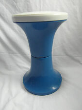 Vintage Retro Blue Judge Stool Tam Tam Style Seat 1970's Plastic Made In England