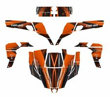 Can am Commander graphics wrap deco kit for 800 1000 R XT #3333 Orange