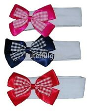 Baby Girls Large Satin/Gingham Bow Headband 0-24 *One Supplied*