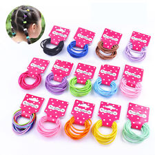 30/60 PCS New Endless Snag Free Hair Elastics Bobbles Bands Pony Tails 19 Colors
