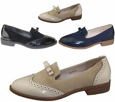 Ladies Slip On Tassel Brogues Womens Casual Oxford Loafers Vintage Shoes Size