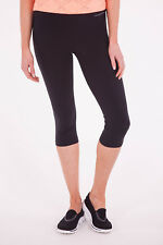 NEW Running Bare Womens Leggings High Rise 1/2 Tight Black