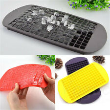 New Safety 160 Ice Cubes Frozen Cube Bar Pudding Silicone Tray Mould Mold DIY