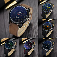 Classic Vintage Mens Watches Waterproof Leather Strap Sport Quartz Army Watch