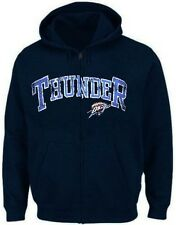 Oklahoma City Thunder NBA Majestic Crack Full Zip Hoodie Mens Big & Tall Sizes