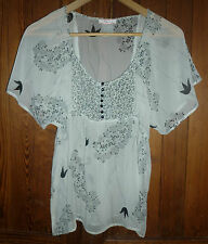 "Lux (Urban Outfitters), XS (33"" around underarm) black, white, semisheer top"