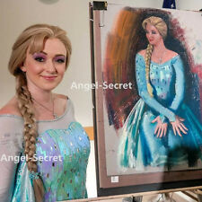 BJ789 Movies Frozen Snow Queen Elsa Cosplay Costume iridescent dress tailor cape
